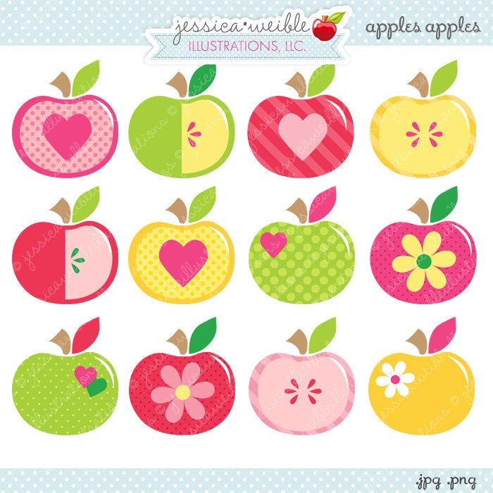 Apples Apples Cute Digital Clipart Commercial Use OK