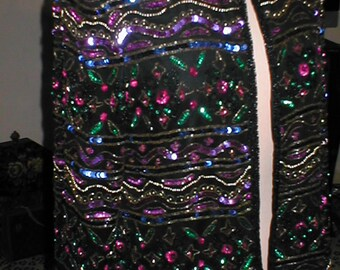 Beaded Silk Evening Jacket