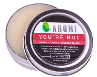 You're Hot Solid Cologne.  Man's Cologne.   Men's Gift.