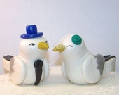 Seagull Seaside Wedding Cake Topper - High Fashion - Fully Customizable