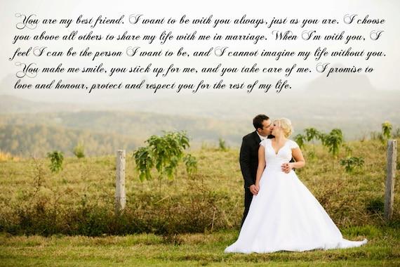 Wedding Vows Gift: Anniversary Gift 16x20 Vows On Canvas Custom Wedding Lyrics On