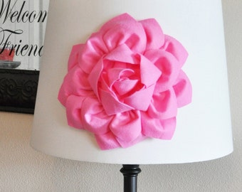 Pink Dahlia Flower Lamp Shade Applique -Lamp Shade Magnetic Flower Embellishment- NEW BEDBUGGS COLLECTION