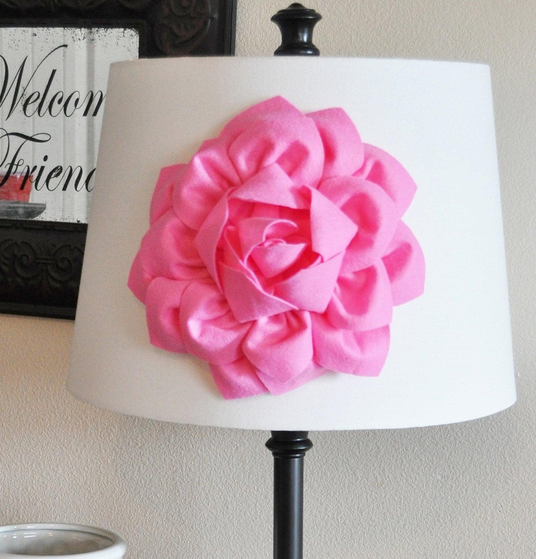 pink dahlia flower lamp shade applique lamp shade magnetic. Black Bedroom Furniture Sets. Home Design Ideas