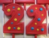 24-Caillou Inspired #2 Chocolate Lollipops