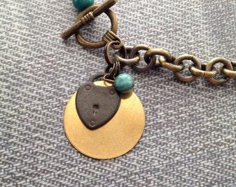Chunky Brass Necklace