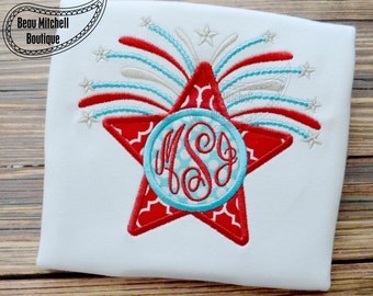 Starburst applique embroidery design