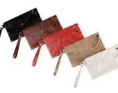 Leather Teresa Clutch