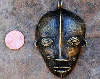 Larger Brass Face Pendant: 60x50mm