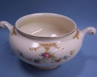 Vintage Sugar Bowl - Eggshell - Nautilus - D 45 N 5  (no lid)