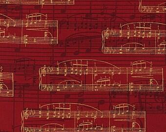 All That Jazz Crimson - Robert Kaufman - Fat Quarter
