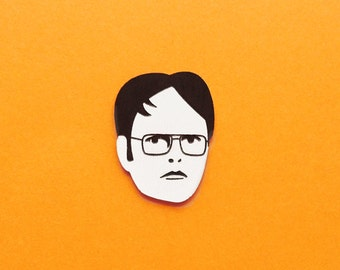 Dwight Schrute acrylic brooch pin