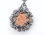 Tyche - Japanese 2in1 Chainmaille Wrapped Coin