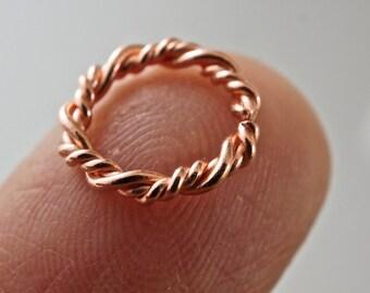 Septum Cartilage Earrings Gold Silver Niobium Titanium By