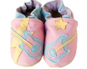 Rock Star (baby shoes in all-leather, pink)