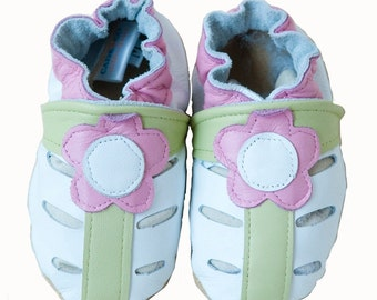 Daisy Mae (baby shoes in all-natural leather, white)