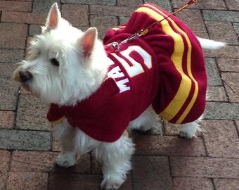 Small dog Cheerleader Ruffle dog Jacket, dog coat, dog jackets, football