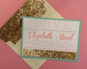 CUSTOM Sparkle Bridal Shower Invitation