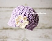 Purple Crochet Toddler Hats, Girl's Newsboy Hat, Toddler Girl Hat, Crochet Hat for Toddler, Cotton, 12 Months to 4T