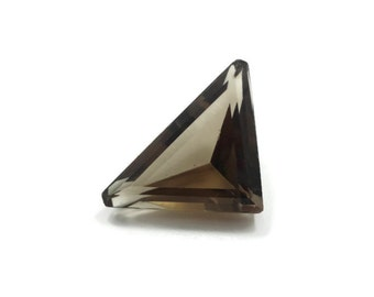Genuine Smokey Topaz 24x18x19x9mm Triangle cut 13.80ct
