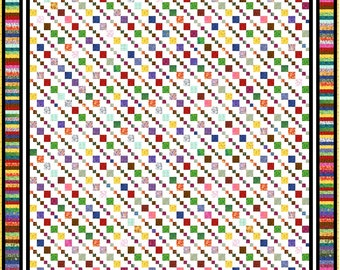 """GROOVY GRANNY - 97"""" - Quilt-Addicts Precut Quilt Kit or Finished Quilt King size"""