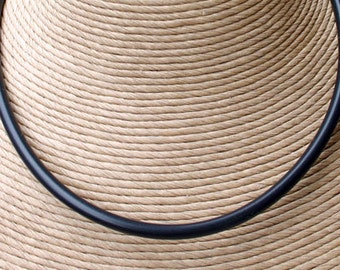 Leather Surfer Necklace 4mm Distressed Cord Sterling Silver Clasp