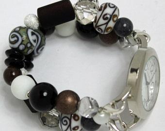 Mosaic Interchangeable Beaded Bracelet Watch Band