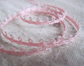 PINK picot braid trim