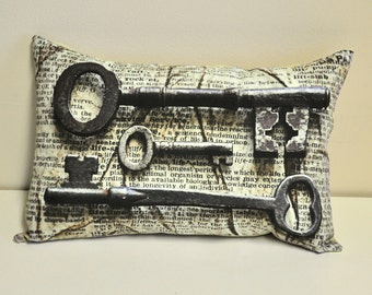 Skeleton Keys pillow