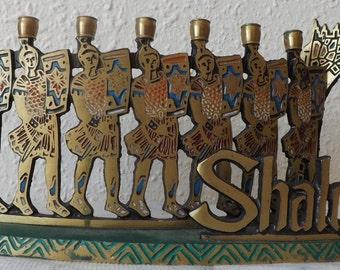 Vintage menorah 1960s / vintage menorah judaica / Vintage menorah solid brassas 60s / Free fast Shipping !!!