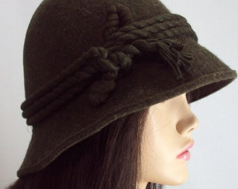 vintage hat 60s / hat /hunter hat 1960s / Green hat /Free fast Shipping