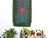 Reserved for Lisa 1970s  African woven tribal boho hippie Wool runner wall hanging urban beach house 21x80