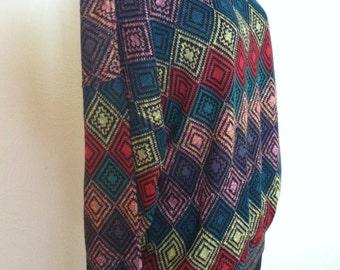 Rich Colorful Diamond Design Vintage MISSONI Cotton Sweater