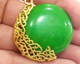 22K Gold Plated Brass Bead Container ,Pendant  G2372