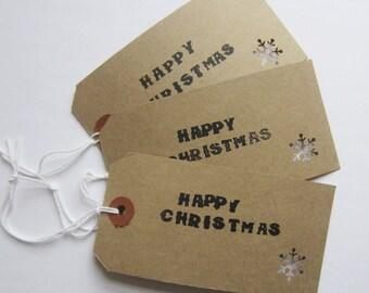 Snowflake Christmas Gift Tag x3