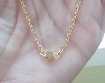 50% off this item, enter LOVE99 at checkout, Tiny Star Necklace, Simple, Minimalist, Tiny Star Necklace, Star Necklace, Gift, Christmas