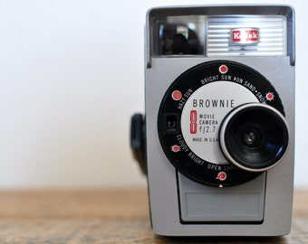 Vintage Brownie 8 Movie Camera