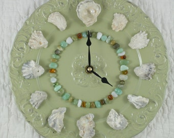 Oyster Shell Wall Clock - Perdido Bay Oyster Shells