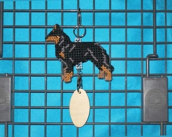 Beauceron dog crate tag - hang anywhere handmade original art by canine artisan, Magnet option