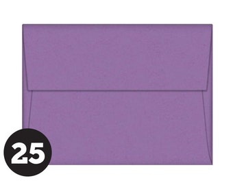 A7 Purple Envelopes for 5 x 7 Invitations, Photos and Cards, Grape Jelly, Purple, Pack of 25