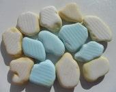 Milk Glass - Pale Blue and Yellow -  English Sea Glass - Free Shipping (3269)