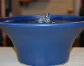 "Ceramic Cat Fountain, Handmade, Foodsafe -  ""April Spring""- 10.25 Inch Diameter"