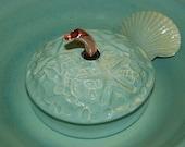 "Ceramic Pet Fountain, Handmade, Food safe -""Sandbar Serene""- 10.5 Inch Diameter"