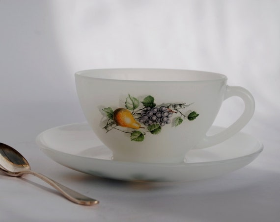 Arcopal Coffee Cup Large Cup And Saucer By Frenchtouchboutique