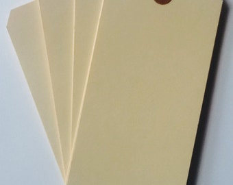 BULK SALE Large Blank Manila Shipping Tags 100pcs / Craft tags / Mixed Media #8 Size