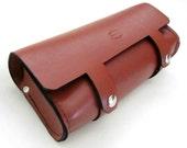 Leather Motorcycle Tool Bag, V2 Whiskey Brown, Fork Bag, Solo Bag, Custom Leather Tool Roll, Saddlebag, Chopper Bag