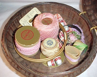 Sewing basket and Sewing Notions