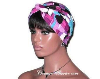 Purple Turban, Women's Handmade Fashion, Abstract Turban, Purple Twist Turban, Turban Hat, Rayon Turban, Full Turban, Hair, Head, Turbin