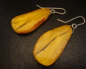 Amber Baltic Earrings Real Vintage 3.62 Gr Egg Yolk Color Wonderful
