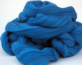 "Ashland Bay Solid Colored Merino for Spinning or Felting ""Wedgewood""  4 oz."
