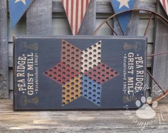 Pea Ridge Chinese Checkers, Game Board,Primitive, Folk Art, Wall Art